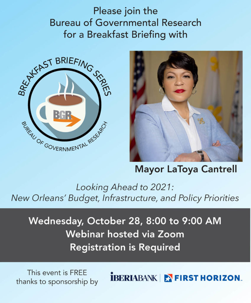 October 28 Breakfast Briefing with Mayor LaToya Cantrell